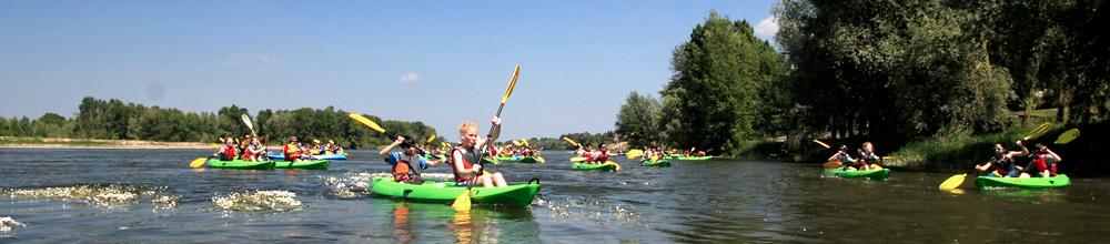 Groupes canoe-kayaks sur la Loire